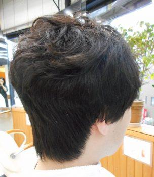 前髪矯正のバックスタイル