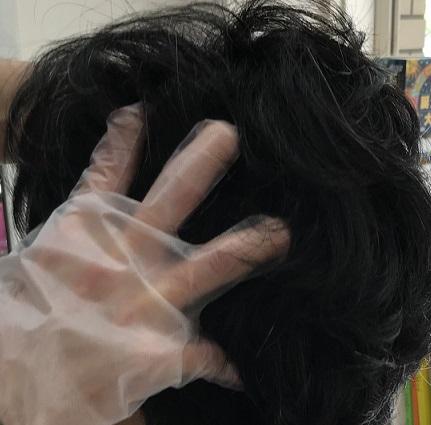 頭部リンパほぐし施術②