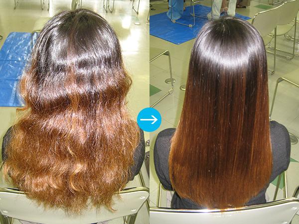 輝髪毛髪改善ストレートの臨床