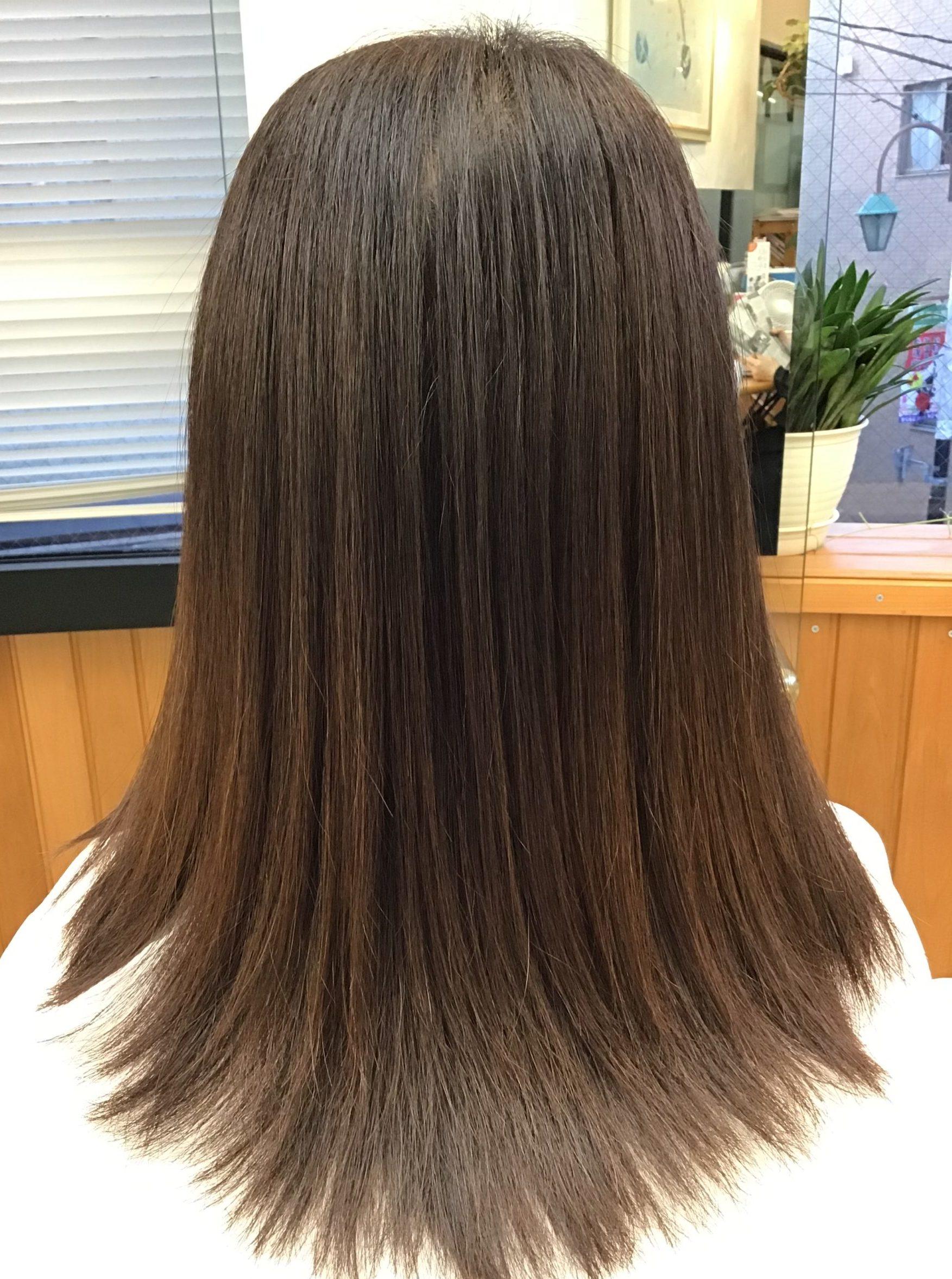 髪質改善の施術例