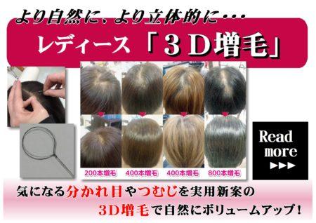 レディース3D増毛