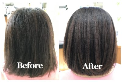 弱酸性縮毛矯正「エアーストレート」施術例