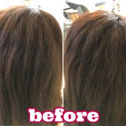 髪質改善縮毛矯正『エアーストレート』施術前