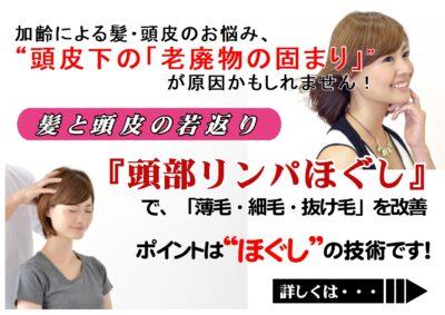 頭皮環境改善「頭部リンパほぐし」